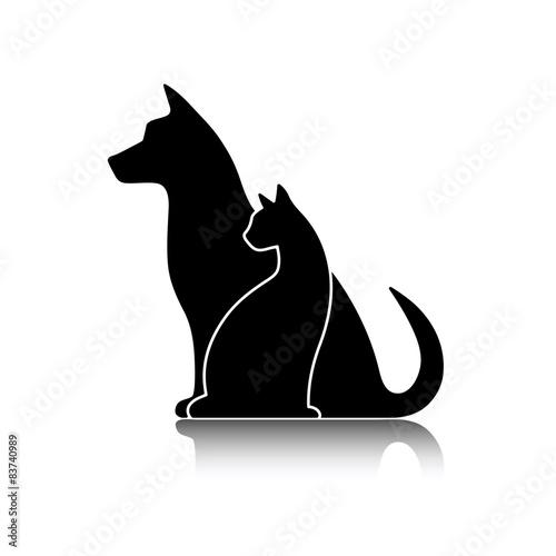 czarna-wektorowa-sylwetka-psa-i-kota