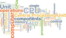 CPU Central Processing Unit Background Concept