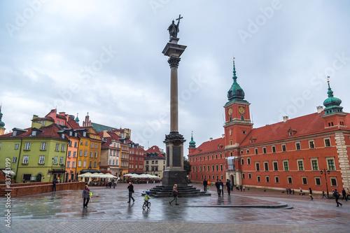 Fototapety, obrazy: Royal Castle and Sigismund Column in Warsaw
