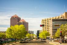 Albuquerque New Mexico Skyline Of Downtown