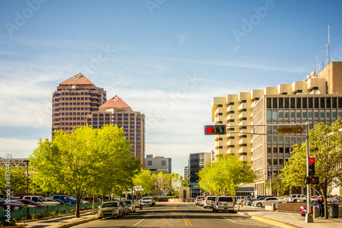 albuquerque new mexico skyline of downtown Wallpaper Mural