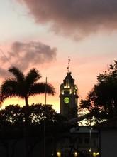 Aloha Tower At Sunset