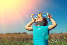 Little Girl With Big Sunglasse...