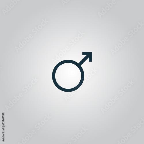 Fototapeta Male sign icon. obraz na płótnie