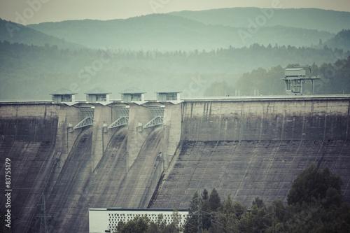 Deurstickers Dam Solina Dam - Poland
