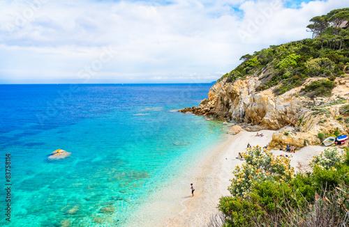 Fotografía Elba island panoramic view of Sansone beach, Tuscany,Italy.