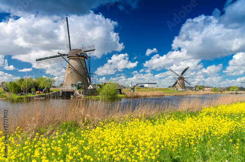 Fotografía  Windmills of Kinderdijk, Netherlands