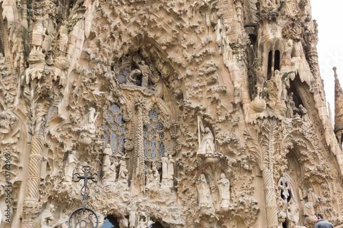 Fotobehang Monument Sagrada Familia en détails