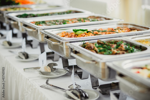 Photo sur Toile Buffet, Bar catering hochzeit
