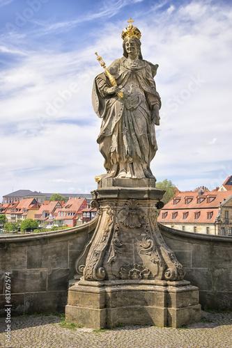 Foto op Plexiglas Artistiek mon. Statue Kunigunde Bamberg
