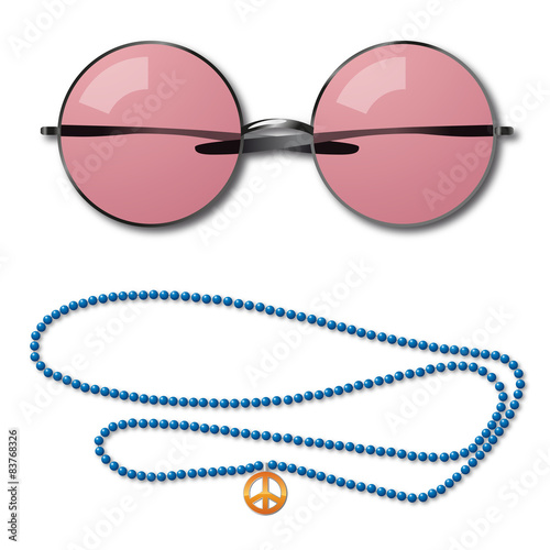 Fotomural Lunettes Collier Peace