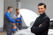 Portrait of Happy Customer in Auto Repair Shop