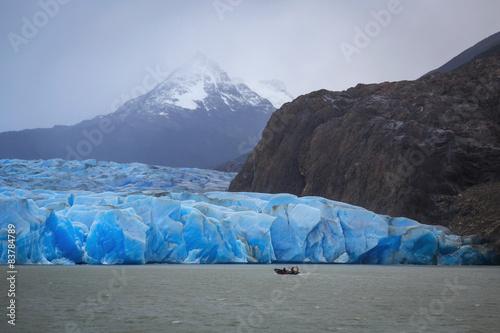 fototapeta na szkło Gray glacier, Torres del Paine National Park, Patagonia, Chile