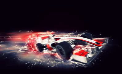 FototapetaGeneric F1 car with special speed effect