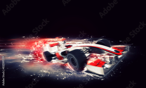 Leinwand Poster Generic F1 car with special speed effect