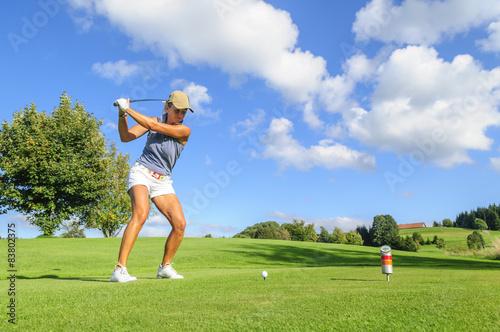 Fotomural Beim Golfspielen