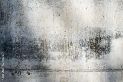 Garden Poster Brick wall Grey concrete surface