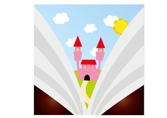 zamek,bajka,książka