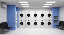 Modern Laundry 3D Interior Wit...