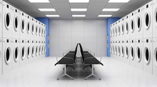 Modern Laundry 3D Interior Wit...