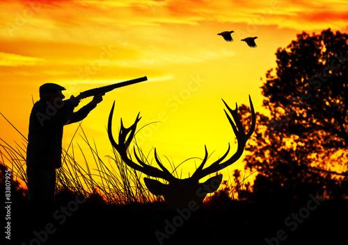 Fotobehang Jacht cazador den el campo