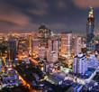 skyline bangkok twilight
