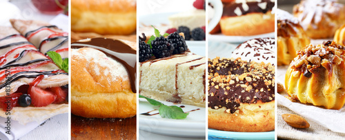Photo sur Toile Dessert Delicious desserts collage