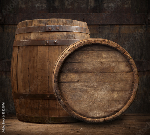 Fotografie, Obraz  wooden barrel