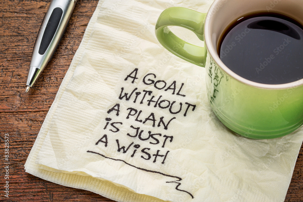 Fototapety, obrazy: goal without plan is just wish