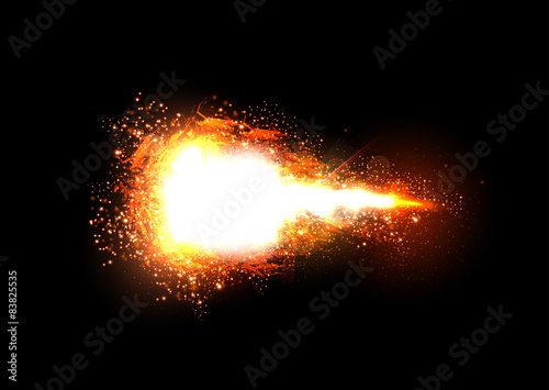 Fotografie, Obraz  Sparkling stars light effect, easy editable