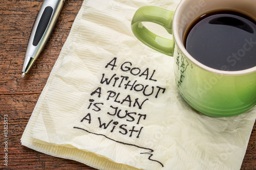 goal without plan is just wish Wallpaper Mural