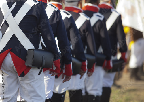 Fotomural  French army marching