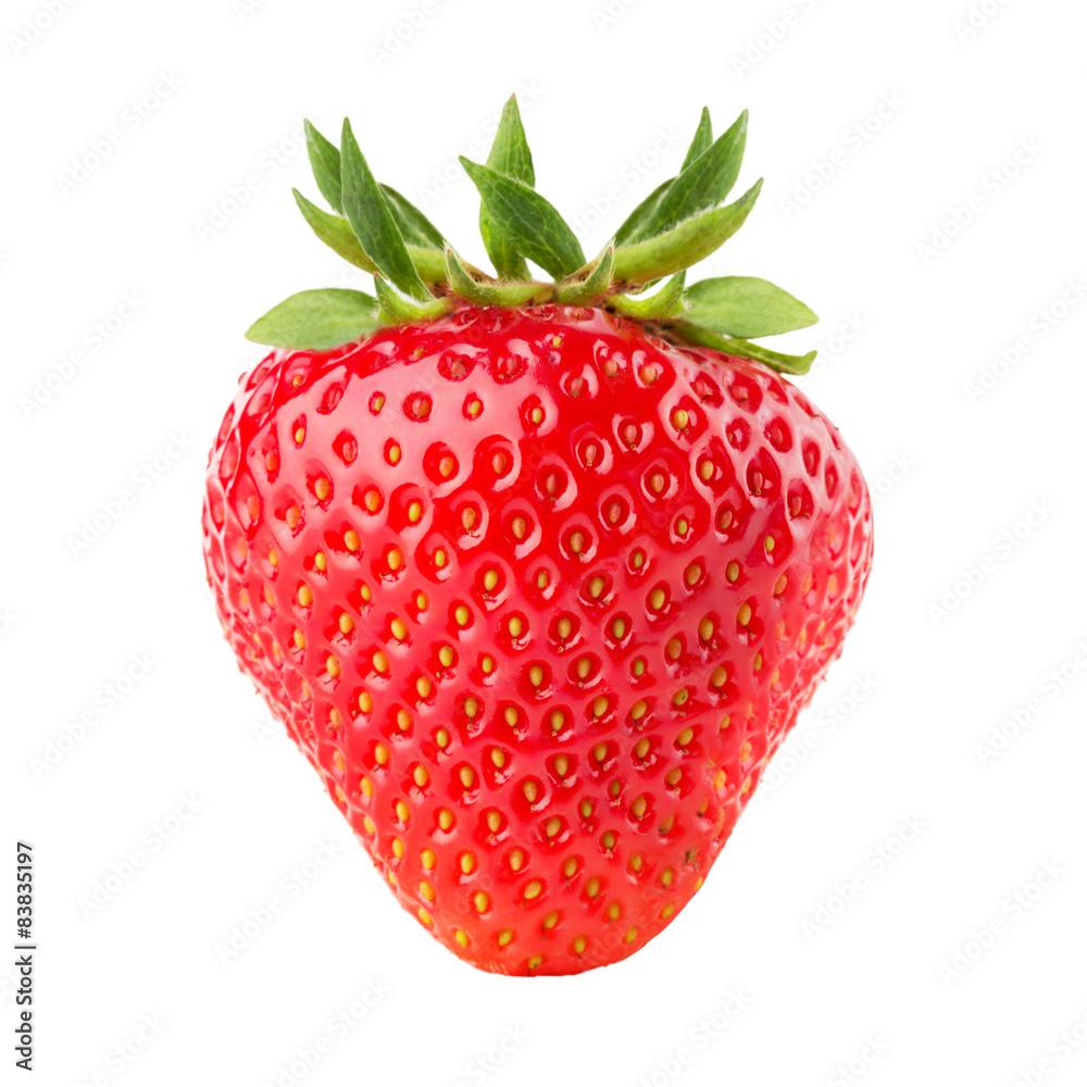 Fototapety, obrazy: strawberry isolated on the white background