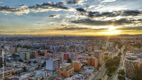 Sunset in Bogota Canvas Print