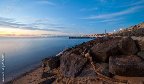 Fotografie, Obraz  Beautiful sunset over Mornington Peninsula, Australia