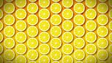 Loopable Motion Background, Soft Motion Seamless Pattern Lemon
