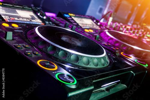 obraz PCV DJ odtwarzacz CD i mikser