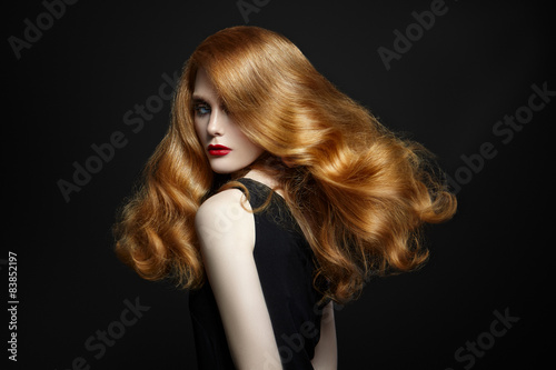 Fotografering  Chic woman with red hair