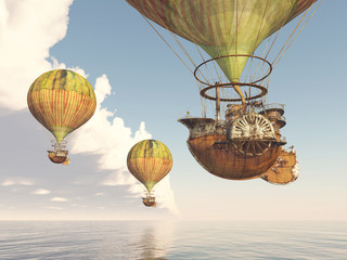 Obraz na Plexi Fantasy Hot Air Balloons