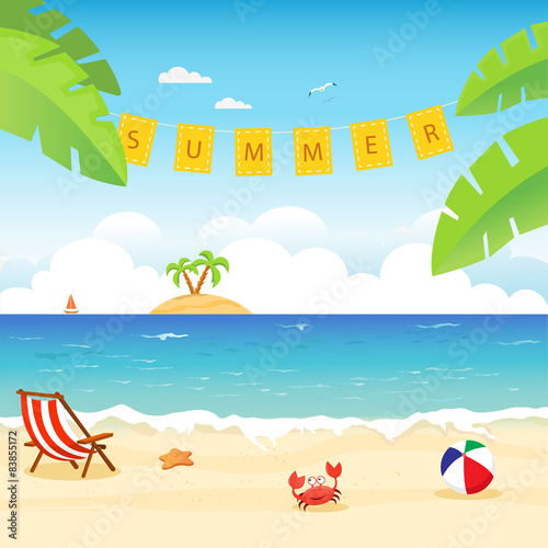 Stampa su Tela  Summer Card
