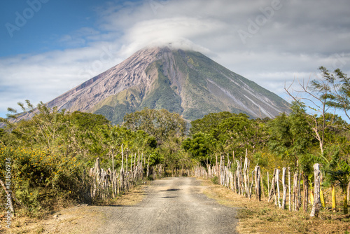 Landscape in Ometepe island with Concepcion volcano