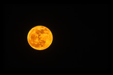 Unusual Orange Moon