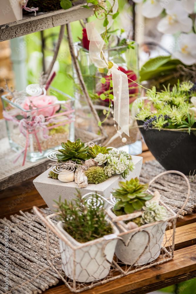 Foto-Lamellen (Lamellen ohne Schiene) - Garden decoration shabby chic style