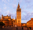 Seville Cathedral with Giralda tower. Spain