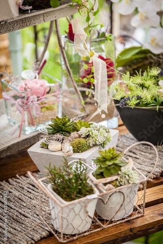 Foto-Schmutzfangmatte - Garden decoration shabby chic style (von Brebca)