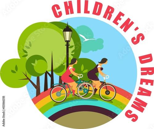 In de dag Regenboog childhood
