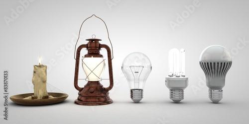Fototapeta Evolution of lighting obraz