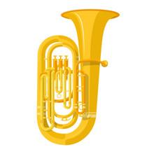 Colored Flat Style Tuba Music ...