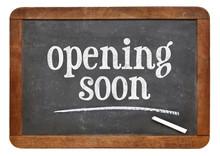 Opening Soon Blackboard Sign