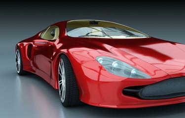 Obraz na Szkle Detailansicht roter Sportwagen